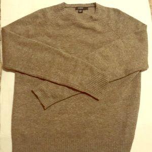 J. Crew wool sweater men's sz L grey sweater EUC